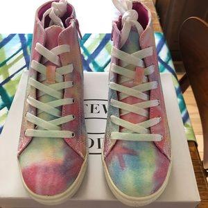 Steve Madden Girl's Tie Dye High-Top Sneakers, 5